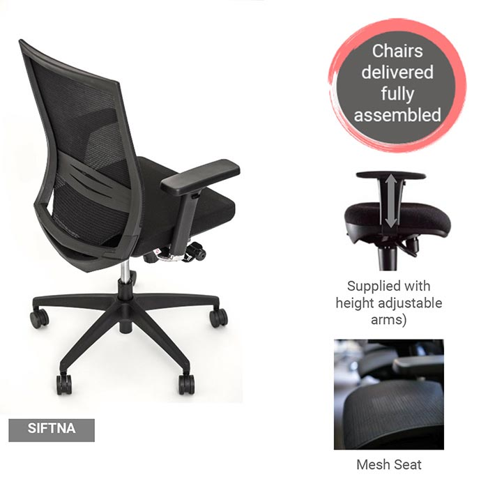 Ergonomic Mesh Task Chair Showcase
